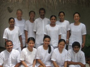Spa team in Maldives